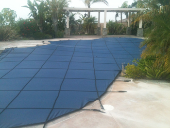 Riverside Pool Cover in Blue for code in ca