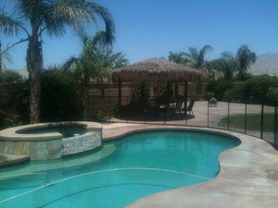 4 foot clear mesh pool fence in indio