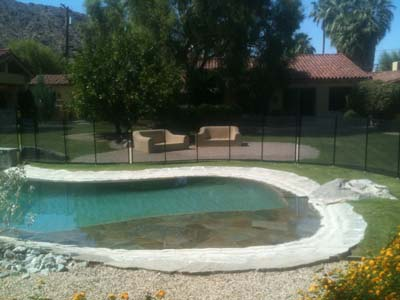 grass installed pool barrier for orange county ca