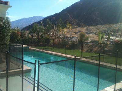 great pool fence view in the coachella valley